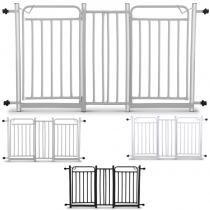 Grade de Porta Dupla Para Bebês E Cachorros com Extensores de 10cm - 128cm a 152cm - Genus móveis