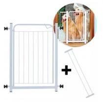 Grade Portão De Segurança P/ Porta + Kit 3 Extensores - Spaçoshop