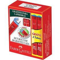 Grafites 0.7 B 12Tubosx24Minas+2Tb Gratis Cx.C/14 Faber-Castell - Faber castell
