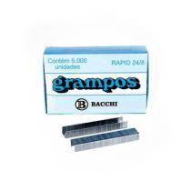 Grampo 24/8 Galvanizado caixa com 5000 - BACCHI -