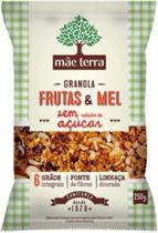 Granola Caseira Frutas e Mel - Mãe Terra - Sem Açúcar - 250g - Mãe Terra