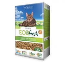Granulado de madeira - Gatos - Ecofresh - 2 KG - Nutropica - Nutrópica