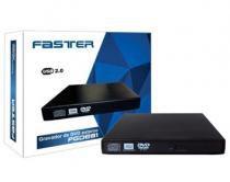 Gravador de DVD+RW SATA Slim Externo Faster - FGDE81 -