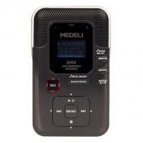 Gravador Digital Waldman DR2 com USB cartão de memória Alto falante embutido Preto -