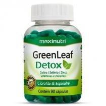 Green Leaf Detox - 90 cápsulas - Maxinutri -