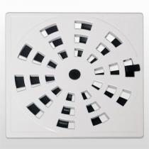Grelha com Vedação Rotativa Astra PVC 15X15cm Branco - ASTRA