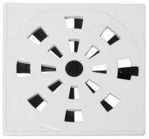 Grelha quadrada rotativa plástica 10 x 10 cm branca grb3 - Astra