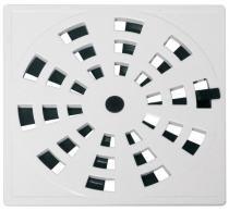 Grelha quadrada rotativa plástica 15 x 15 cm branca grb5 - Astra