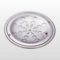 Grelha Redonda de Aço Polido Moldenox 15x15 com Caixilho Cromado - MOLDENOX