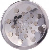 Grelha redonda rotativa inox sem caxilho 15 prinox - Met.prinox
