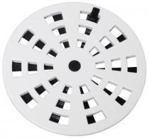 Grelha redonda rotativa plástica branca 15 grb7 - Astra