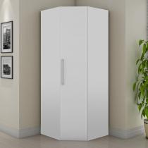 Guarda-roupa 1 Porta de Canto Vegas Branco - Fama móveis