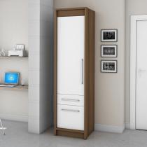 Guarda-roupa 1 Porta Vegas Ipê/Branco - Fama móveis