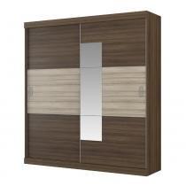 Guarda-roupa 2 Portas Com Espelho Cronos 1065 Ébano/Anis - Carraro móveis