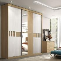 Guarda roupa 3 portas de correr sublime glass - thb - Vanilla Sensitive com Teka Sensitive -