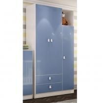 Guarda-roupa 3 Portas Meu Fofinho Rp5069 Azul - Art in Móveis