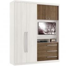 Guarda roupa 4 portas brilliance espaço tv de 32 polegadas thb - Teka Sensitive com Carvalho Sensitive - Thb