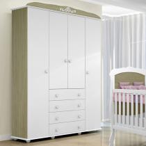 Guarda-roupa 4 Portas e 4 Gavetas Maria Fernanda Provençal - Tigus Baby - TIGUS BABY