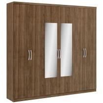 Guarda roupa 6 portas 2 gavetas elite glass - thb - Carvalho Sensitive - Thb