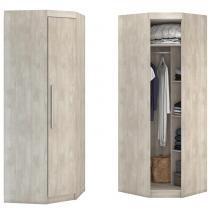 Guarda-roupa Canto 45 1 Porta A203 Álamo Natural - Incolar móveis