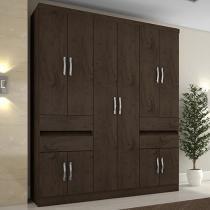 Guarda-roupa Casal 10 Portas 4 Gavetas - Araplac Excellence 1430-77