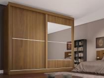 Guarda-roupa Casal 2 Portas 4 Gavetas - Made Marcs Ipanema com Espelho