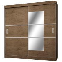 Guarda-roupa Casal 2 Portas de Correr 4 Gavetas - Araplac Atraente 2040-88 com Espelho