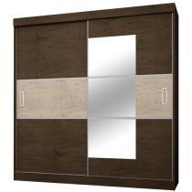 Guarda-roupa Casal 2 Portas de Correr 4 Gavetas - Araplac GR 2040 com Espelho