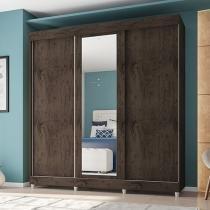 Guarda-roupa Casal 3 Portas de Correr 3 Gavetas - Araplac Stilo com Espelho