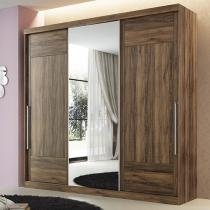 Guarda-roupa Casal 3 Portas de Correr 4 Gavetas - Santos Andirá Soft Imaginare com Espelho