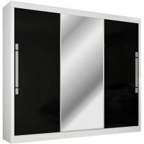 Guarda-roupa Casal 3 Portas de correr com Espelho - 6 Gavetas - Gelius Gênesis