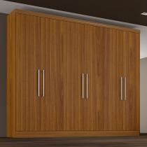 Guarda-Roupa Casal 6 Portas 4 Gavetas - Made Marcs Athenas com Espelho