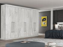 Guarda-roupa Casal 6 Portas 4 Gavetas - Made Marcs Monte Carlo 6694126