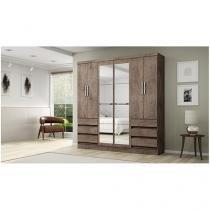 Guarda-roupa Casal 6 Portas 6 Gavetas - Araplac Bento com Espelho