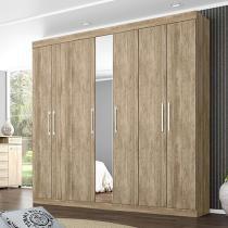 Guarda-roupa Casal 7 Portas 3 Gavetas Demóbile - London com Espelho