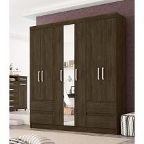 Guarda-roupa Casal 7 Portas 4 Gavetas Demóbile - Igapó com Espelho