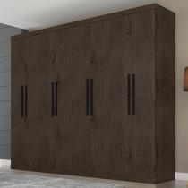 Guarda-roupa Casal 8 Portas 4 Gavetas - Araplac Prime Porto