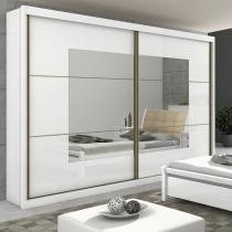 Guarda Roupa Casal com Espelho 2 Portas 6 Gavetas Toronto New Móveis Lopas Branco -