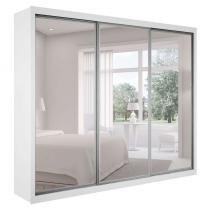 Guarda-Roupa Casal Ravena com Espelho Top com Espelho 3 PT 6 GV Branco - Rufato