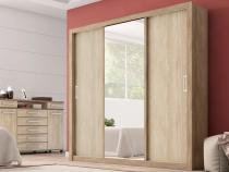 Guarda-Roupa Casal Residence Nogal/Vanilla Touch - Demobile -