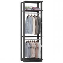 Guarda-roupa Closet 2 Cabideiros 70 cm Espresso - Bentec móveis
