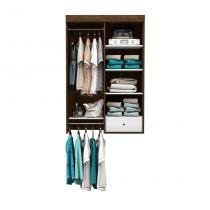 Guarda-Roupa Closet Modulado Euforia Cedro e Branco - Móveis albatroz