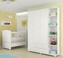 Guarda Roupa Infantil 3 Portas Lorena + Berço Mini Cama 230 - Phoenix Baby -