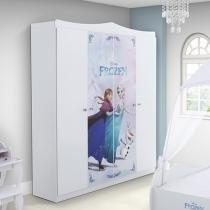 Guarda-Roupa Infantil 4 Portas 2 Gavetas - Pura Magia Disney Frozen Star