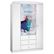 Guarda-roupa Infantil 4 Portas 3 Gavetas - Disney Star Frozen
