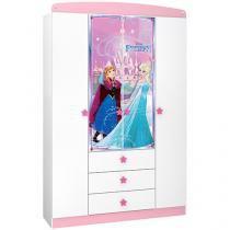 Guarda-roupa Infantil 4 Portas 3 Gavetas - Pura Magia Disney - Star Frozen
