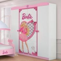 Guarda Roupa Infantil Barbie Star 4 portas e 2 gavetas internas - Pura Magia - Pura Magia