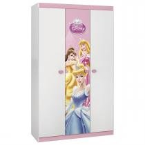 Guarda Roupa Princesas Disney Happy Com 3 Portas Pura Magia -