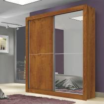 Guarda Roupa Solteiro 2 Espelhos 2 Portas de Correr Milan New Canela - Leifer -