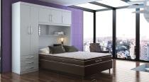 Guarda roupas 5 portas e 3 gavetas para cama box casal ph1207 - branco - herval édez - Herval édez